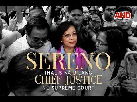 Sereno, inalis na bilang Chief Justice ng Supreme Court