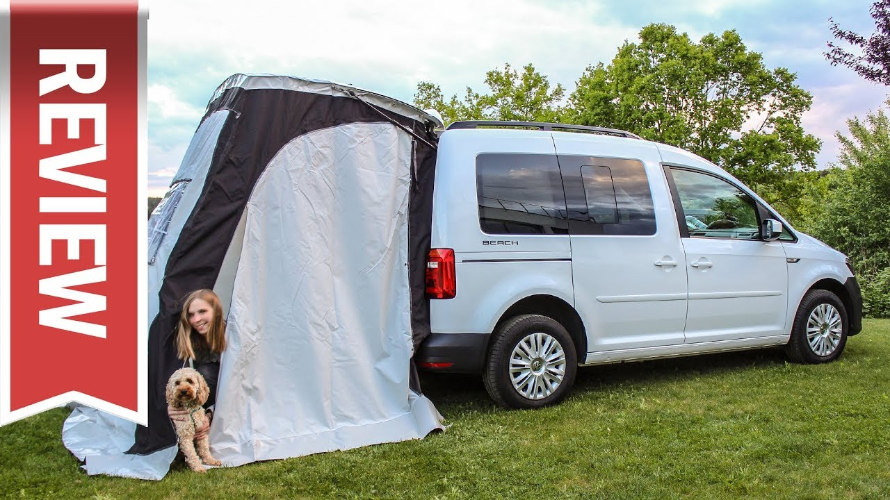 wir campen im vw caddy beach schlaf test vorzelt. Black Bedroom Furniture Sets. Home Design Ideas
