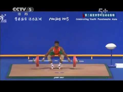 2013 Asian Youth Games Men's 77 kg highlights Nanjing China