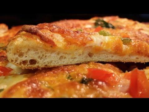 صورة  طريقة عمل البيتزا طريقه عمل البيتزا باستخدام العجينه السحريه الهشه  سريعه ولذيذه مطبخ شاي مهيل الشيف ام محمد طريقة عمل البيتزا من يوتيوب
