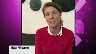 Helene Alfredsson skänker 10 000 kr till Grunden Bois
