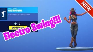*NEW* ELECTRO SWING DANCE EMOTE! [ITEM SHOP OCT 21] FORTNITE BATTLE ROYALE