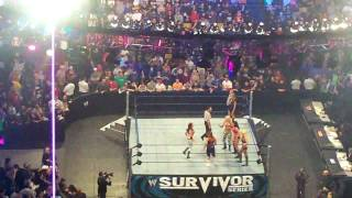 WWE Survivor Series 2008 Team RAW vs. Team Smackdown Diva Entrances