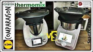comparaison monsieur cuisine connect et thermomix tm5 vorwerk et silvercrest lidl sand cook look