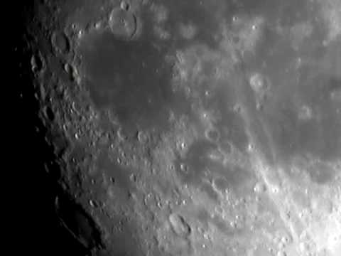 crater moon Gassendi and Mare Humorum