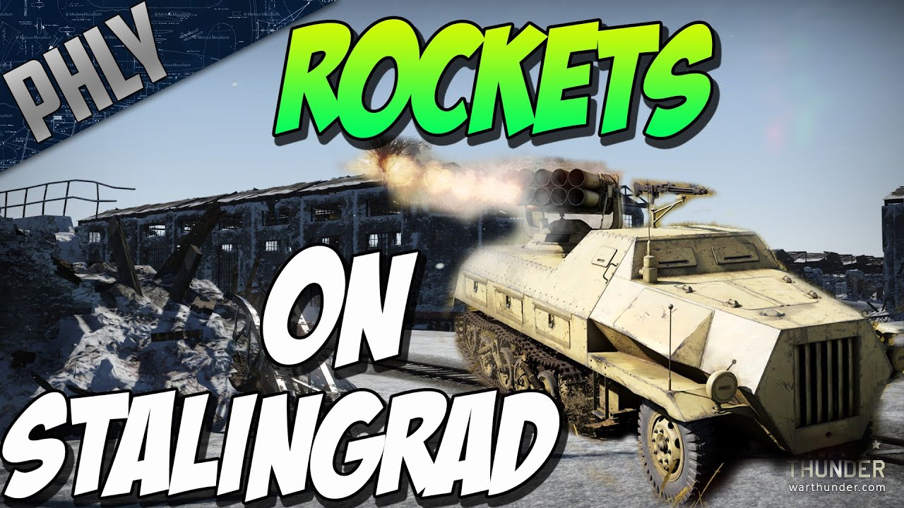 Panzerwerfer 42 Rockets On New Map Stalingrad Factory War Thunder 1 53 New German Vehicles Youtube