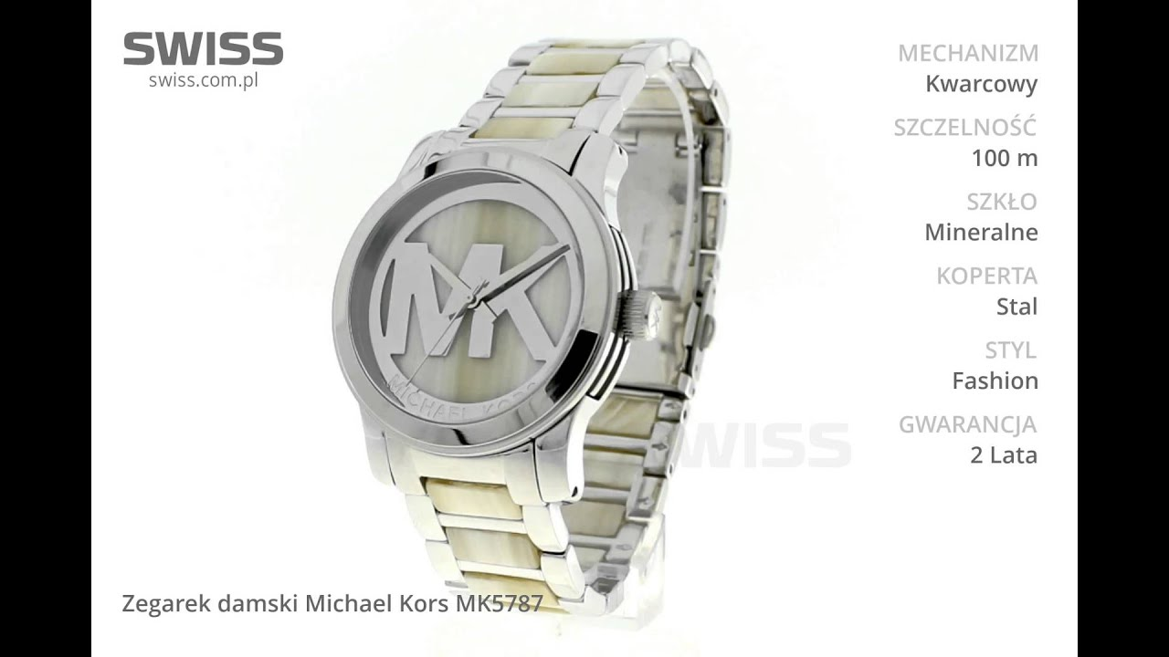 3f9165d98c35c www.swiss.com.pl - Zegarek damski Michael Kors MK5787 - YouTube