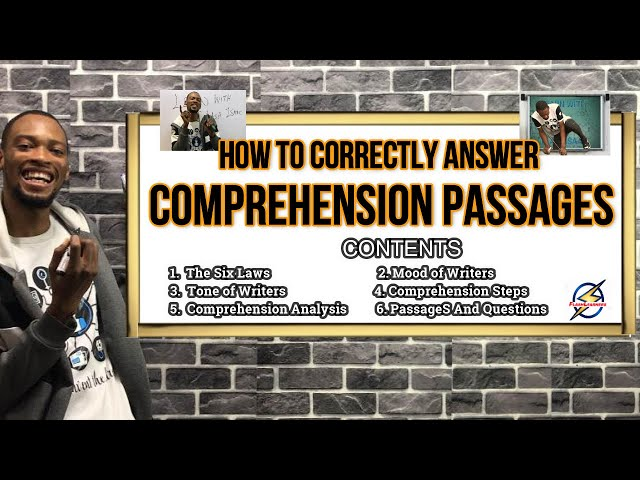 6 Laws To Answer Comprehension Passages | With Examples