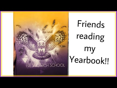 Friends reading what they wrote in my Yearbook!!