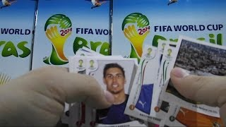 Official Sticker Album Panini Brazil 2014 stickers packs opening