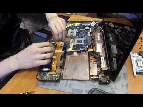Как разобрать Packard Bell TS11 Disassembly + замена процессора на Core I7 (часть 1)