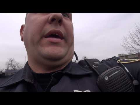 Glen Ellyn Cop Assaulting citizen on a public street