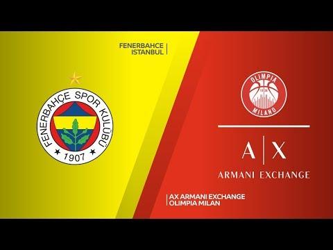Fenerbahce Istanbul - AX Armani Exchange Olimpia Milan Highlights | EuroLeague RS Round 12