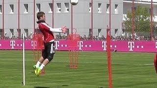 Mario Götze Pizarro Hojbjerg - dribbling skills | Shots | Headers - FC Bayern Munich training