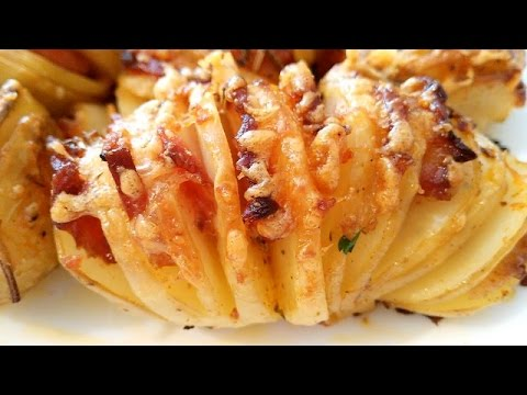 Bakina kuhinja -lepeza punjen krompir neverovatno dobar