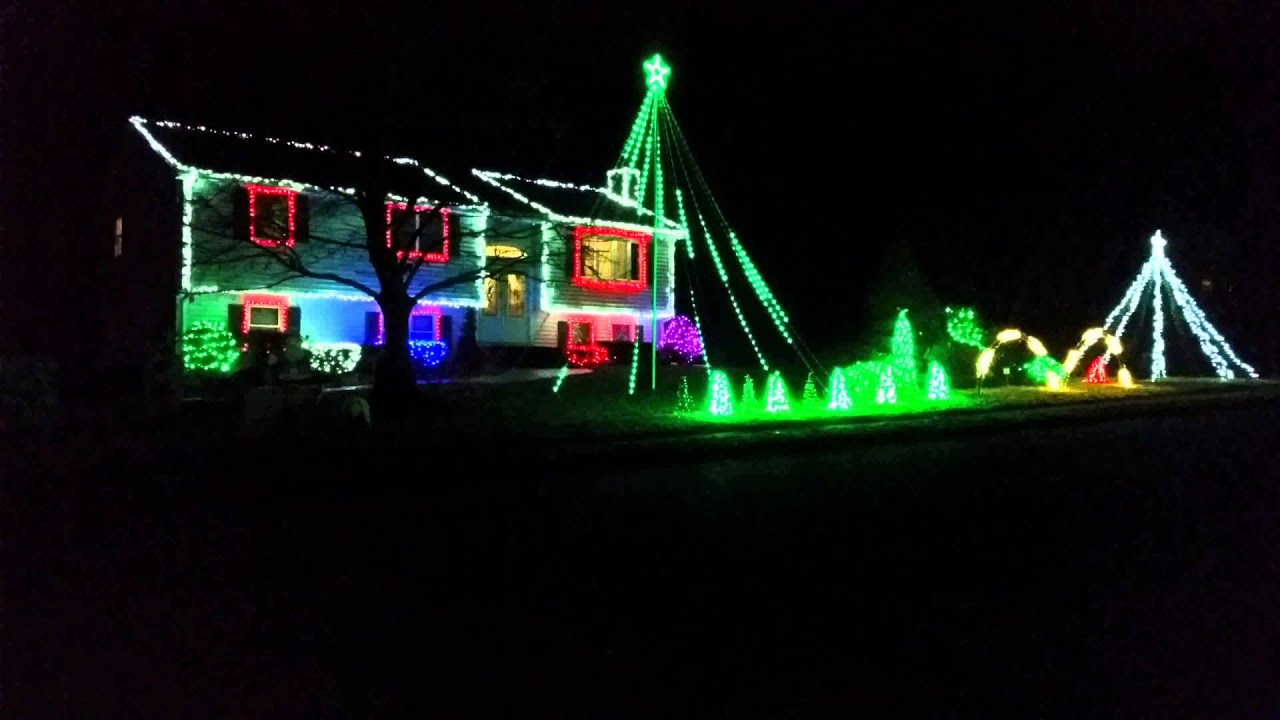 Let It Go Christmas Light Show 2015 Billerica MA - YouTube