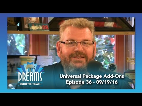 Universal Vacation Package Add-Ons | 09/19/16