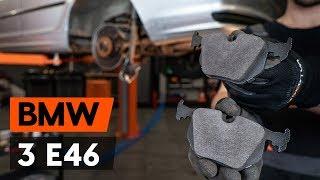 aizmugurē un priekšā Bremžu Kluči uzstādīšana BMW 3 Touring (E46): bezmaksas video