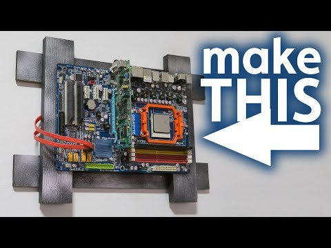 Making The Easiest Wall Frame For Motherboards, Electronics and more...