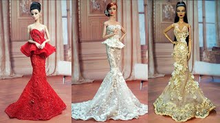 Gorgeous Barbie Doll Dresses ❤️ 4 DIY Doll Makeover Transformations || BARBIE DOLL HACKS