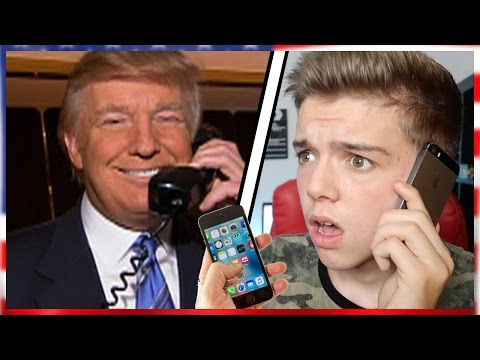 CALLING DONALD TRUMP HE ACTUALLY ANSWERED! | Donald Trumps Leaked Phone number prank Call USA vs UK