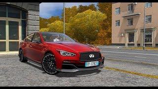 City Car Driving 1.5.5 - Infiniti Q50s ER 2014   Custom SOUND   Day Drive   1080p & G27