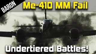 War Thunder Over Tiered Me410 Bomber and Jet Hunting!
