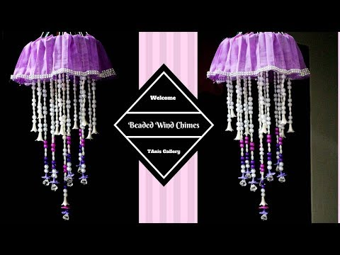 how to make beaded wind chimes - Beaded wind chimes craft - Homemade wind chime ideas