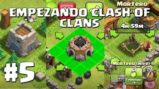 Construimos el Mortero y el Laboratorio en TH3! Castillo del Clan #5 - EMPEZANDO CLASH OF CLANS