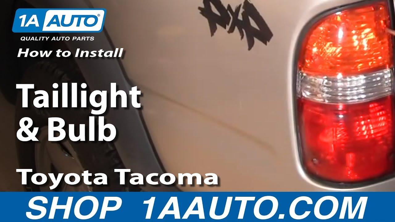 How To Replace Tail Light 01 04 Toyota Tacoma