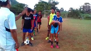 Khmer Football training   Free kick   11 shooting goal   football train   in Takream Stadium