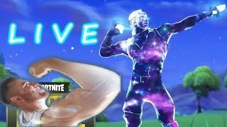 FORTNITE Galaxy Skin!!! LIVE FORTNITE BATTLE ROYALE!!!!