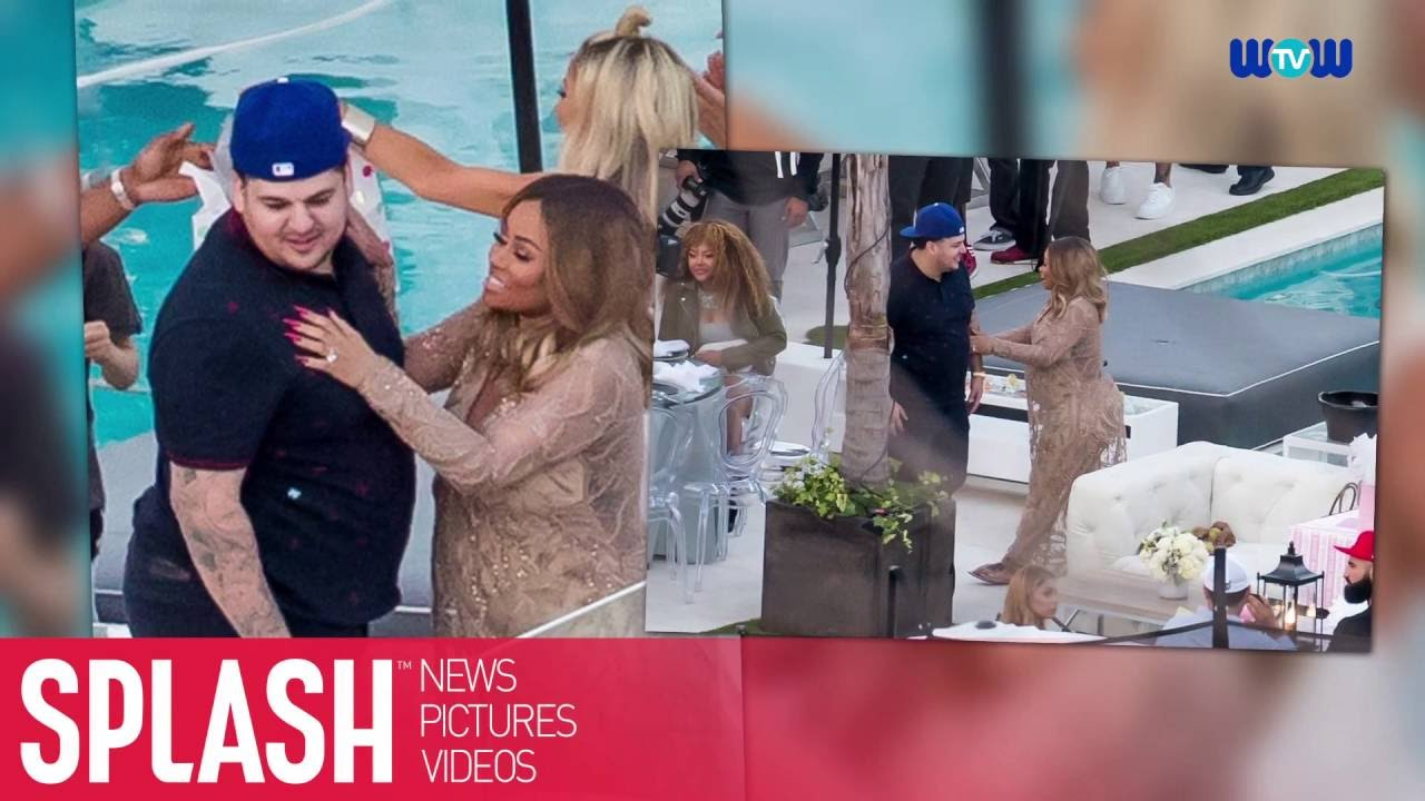 Rob Kardashian Shows Up For Baby Shower With Blac Chyna