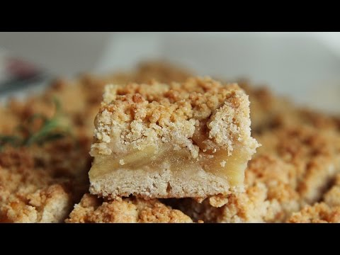 Apple crumble bars : Honeykki 꿀키