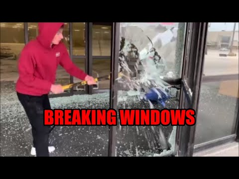 MAJOR DESTRUCTION! WE SHATTERED AND SMASHED EVERY WINDOW IN THIS HUGE BUILDING!!!