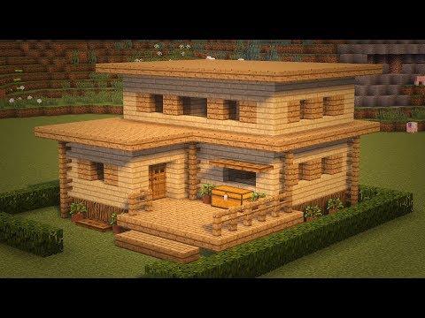Как построить дом в майнкрафте из дерева