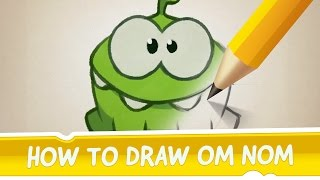 How to Draw Om Nom from Cut the Rope