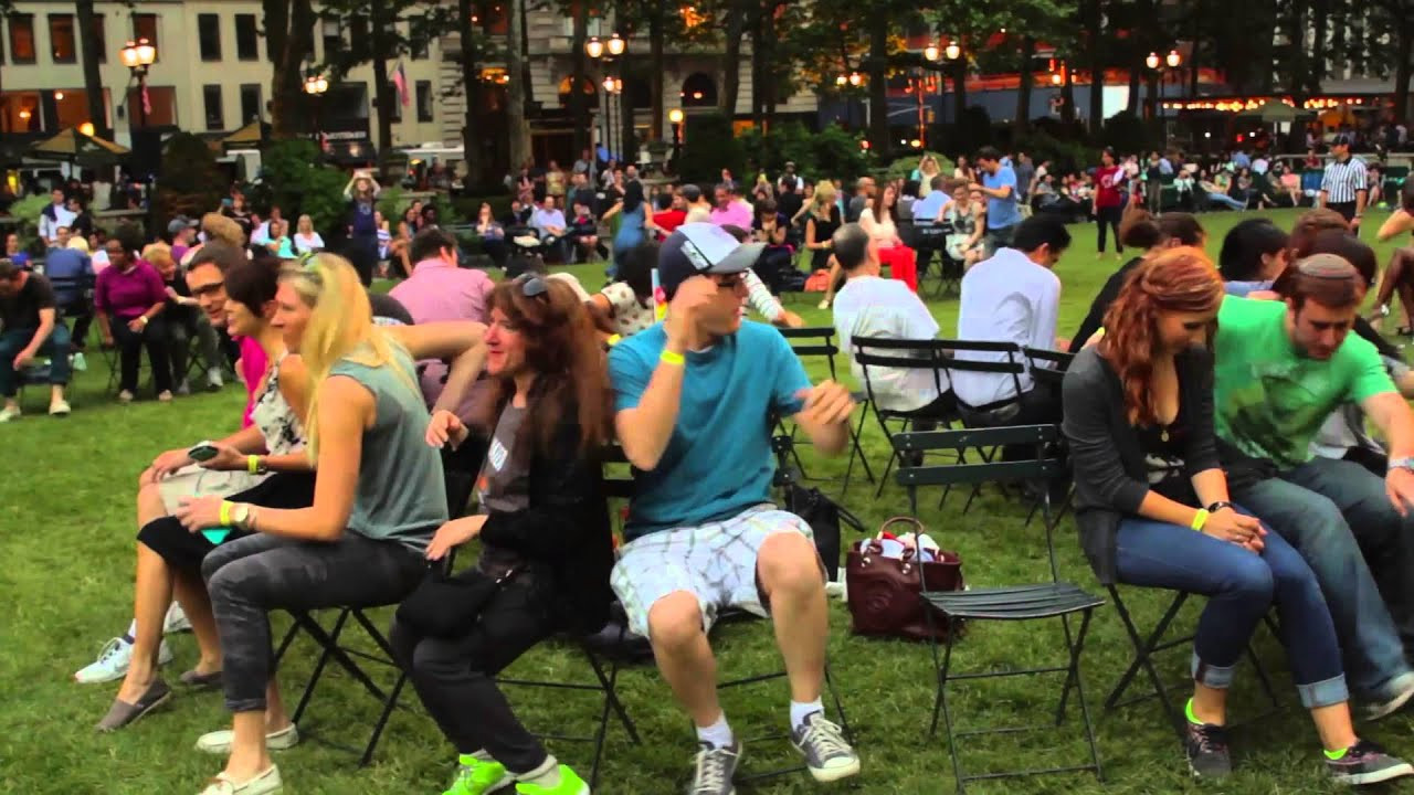 Musical chair game for kids - Musical Chairs In Bryant Park