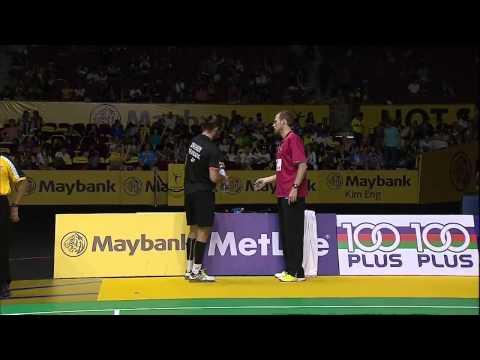 Lin Dan vs Jan O Jorgensen | MS SF Match 5 - Maybank Malaysia Open 2015