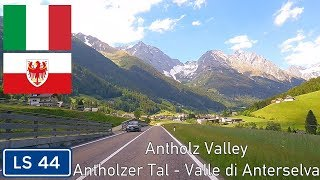 Sp 44 / ls through the antholz valley in south tyrol, italy.