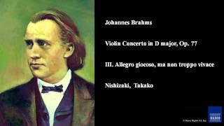 Johannes Brahms, Violin Concerto in D major, Op. 77, III. Allegro giocoso, ma non troppo vivace