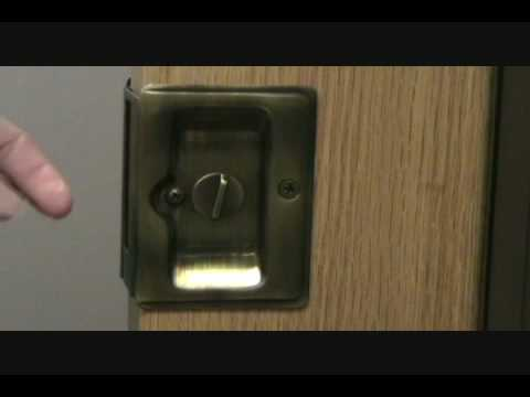 Hardware Hut Deltana Pocket Door Privacy Pull Function