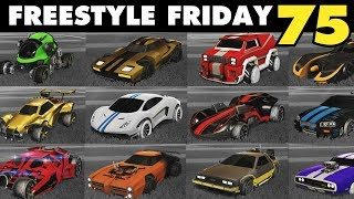 ALL CARS Freestyle Friday 75 | Rocket League - JHZER