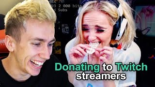 TROLL DONATING TO TWITCH STREAMERS!