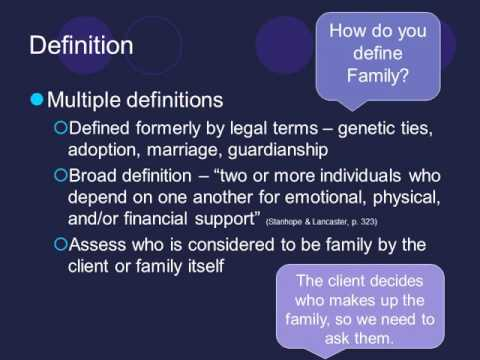 Family Assessment Video Lecture