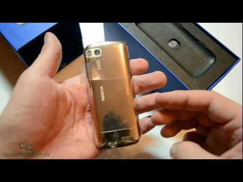 Распаковка Nokia C3-01 Gold Edition (Touch and Type) (unboxing)