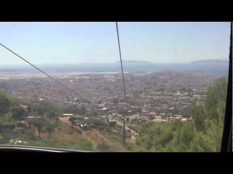 Cable car ride down Mount Erice, Sicily, Italy - 20th August, 2011