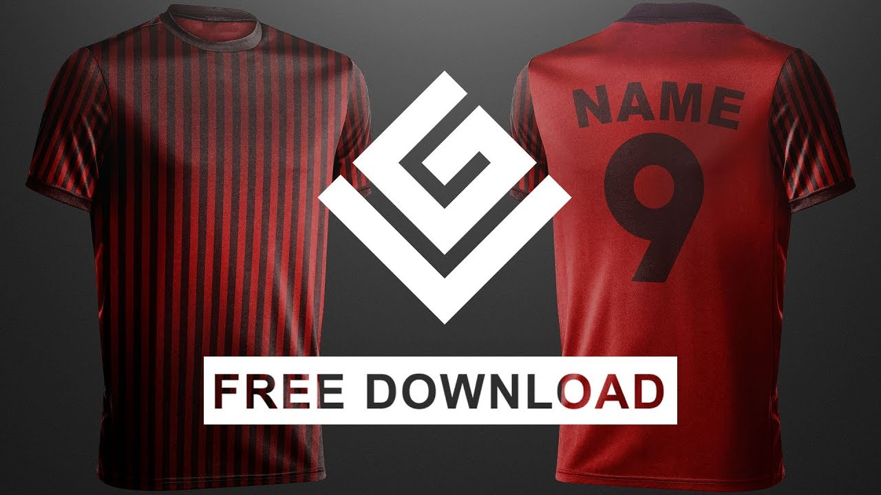 Download 100 Sub Giveaway | Free Football Shirt Mock Up , Front and ...