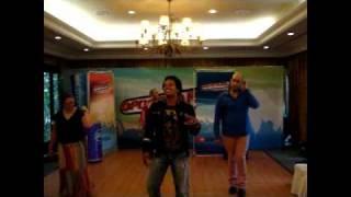 Popstars 2010: Carlo McFarlane teaching the team to dance