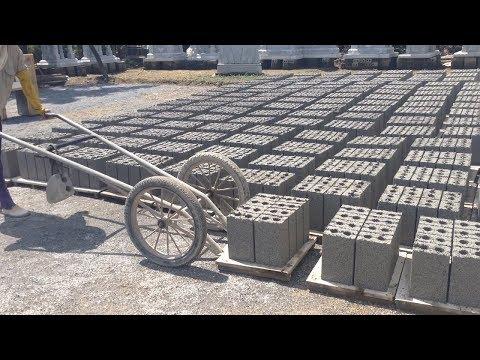 Amazing Machine Automatic Making Brick Correctly - Brick Manufacturing Factory
